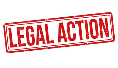 Legal action grunge rubber stamp on white background, vector illustration
