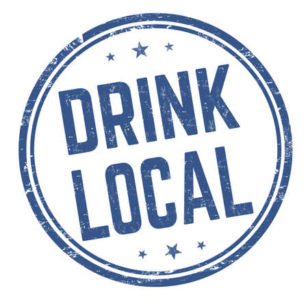 Drink local grunge rubber stamp on white background, vector illustration Illustration