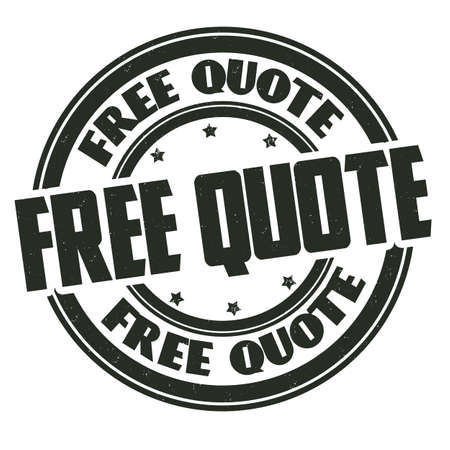Free quote grunge rubber stamp on white background, vector illustration