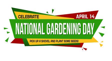 National gardening day banner design on white background, vector illustration