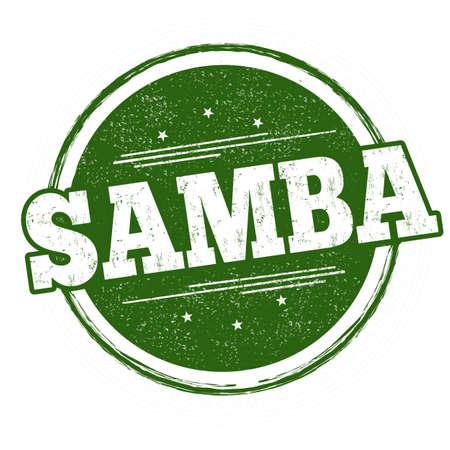 Samba grunge rubber stamp on white background, vector illustration Illustration