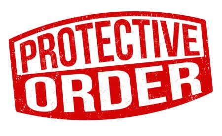 Protective order grunge rubber stamp on white background, vector illustration