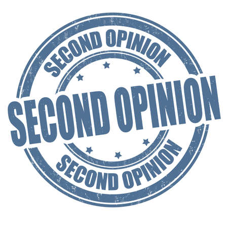 Second opinion grunge rubber stamp on white background, vector illustration