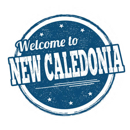 Welcome to New Caledonia grunge rubber stamp on white background, vector illustration