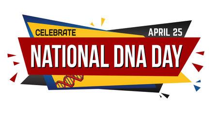 World DNA day banner design on white background, vector illustration Illustration
