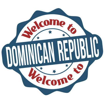 Welcome to Dominican Republic grunge rubber stamp on white background, vector illustration