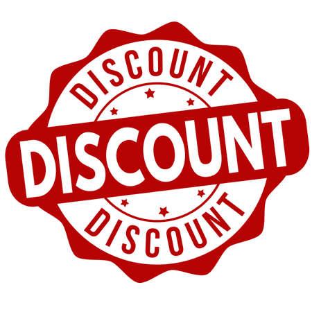Discount sign or stamp on white background, vector illustration Illustration