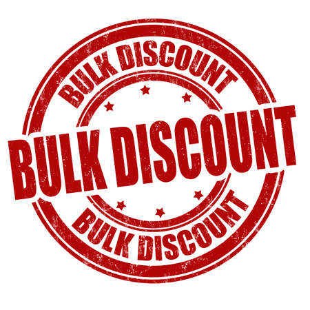 Bulk discount grunge rubber stamp on white background, vector illustration