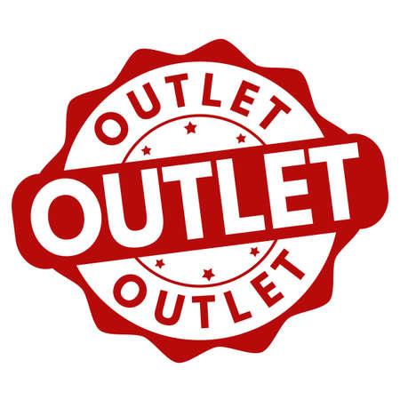 Outlet sign or stamp on white background, vector illustration