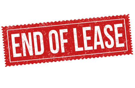 End of lease grunge rubber stamp on white background, vector illustration