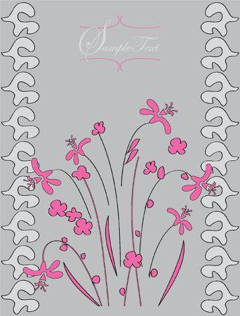 Floral invitation Stock Vector - 18297438