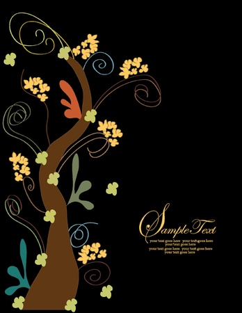 Elegant tree invitation card Stock Vector - 18384567