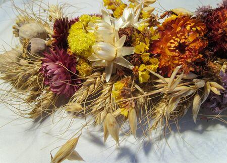 flores secas: Resumen ramo de flores y secos de amapolas Foto de archivo