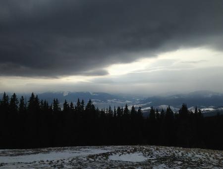arando: el cielo preparado para nevadas en las montañas