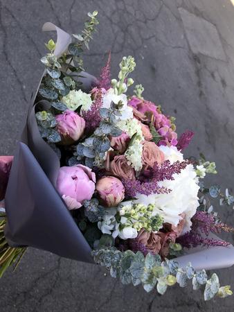 the Gentle wedding bouquet of the bride