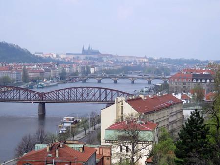 scenery of Prague in sunny day in the spring Stock Photo