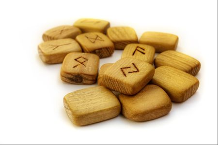 fortunetelling: Old wooden runes