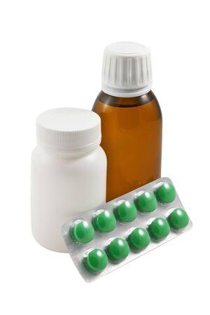Medicine set isolated  on the white background photo