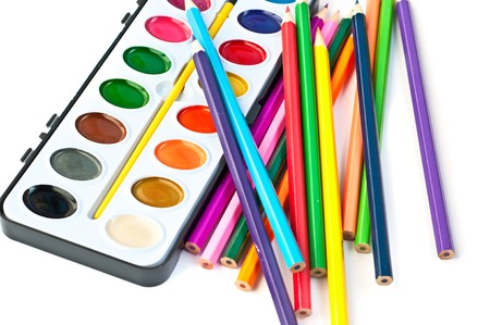 paintbox: Paintbox with pencils