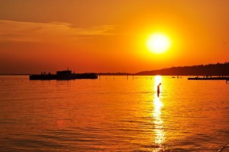 Sunset on the sea Stock Photo - 7884990