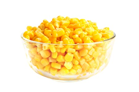 mazorca de maiz: Ma�z enlatado  Foto de archivo