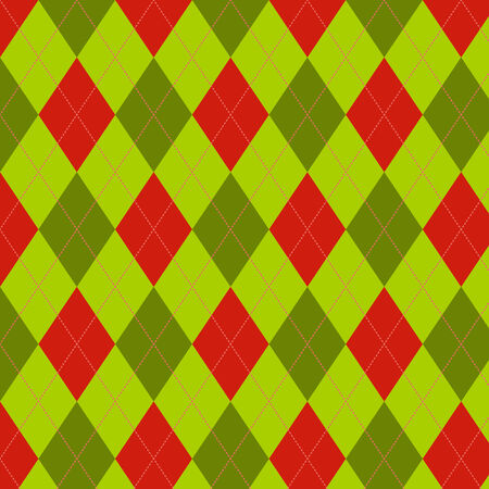 Seamless scotland pattern in green and red colors