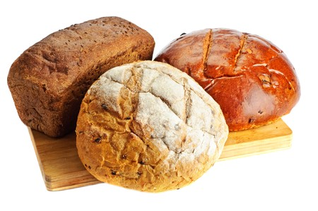 Some kinds of fresh bread photo
