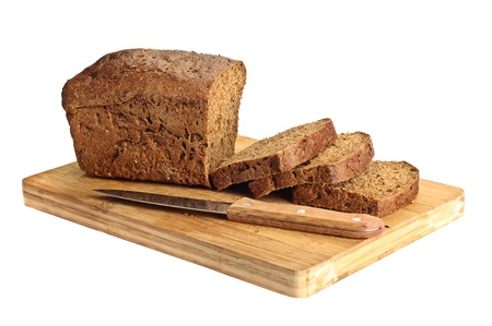bread slice: Rye sliced bread Stock Photo