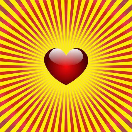 Heart background Stock Vector - 8525155