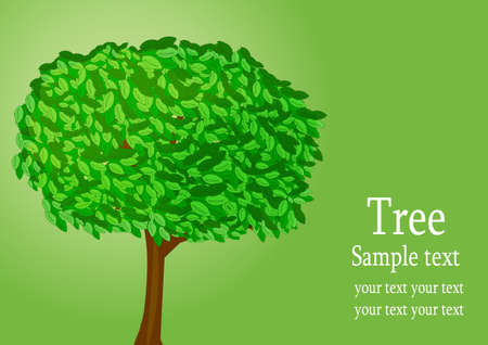 Background with tree Stock Vector - 8571524