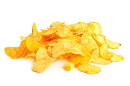 Golden fresh chips photo