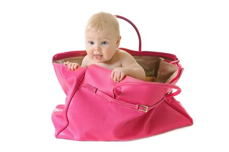 Baby in a bag photo