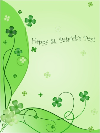 design of greening card to st. patrick`s day Vector
