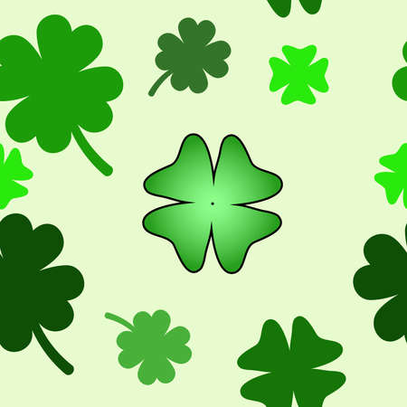 seamless pattern with clover leaves photo