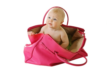 funny baby: Baby in a bag