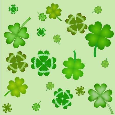 seamless pattern with clover leaves Stock Vector - 8952824