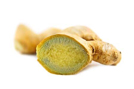 Fresh ginger root photo