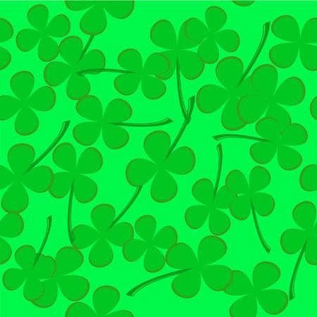 seamless pattern with clover leaves Stock Vector - 8976466