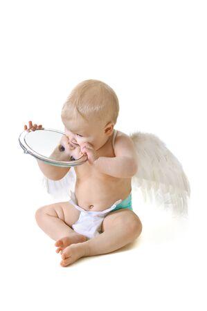 Angel baby photo