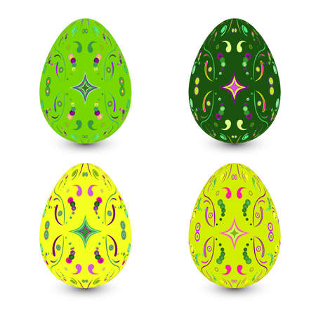 Set of four easter eggs