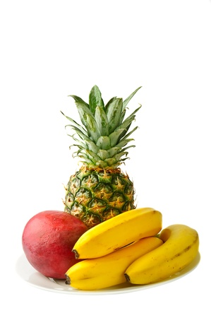 fresh tropical fruits photo