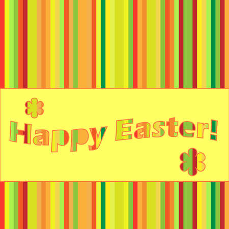 striped easter card Vector