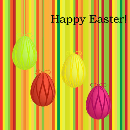 striped easter card Stock Vector - 9178628