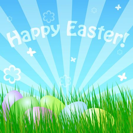 spring easter card Stock Vector - 9229864
