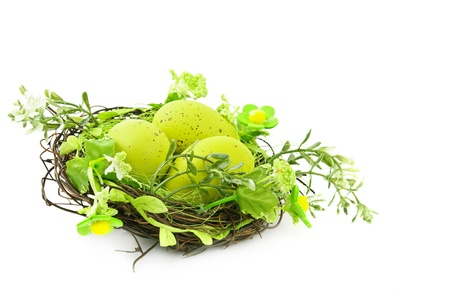 decorative easter nest with eggs Stock Photo - 9229941