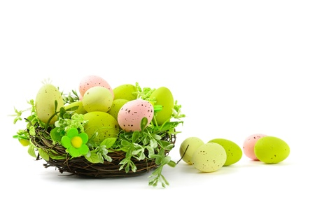 decorative easter nest with eggs Stock Photo - 9229939