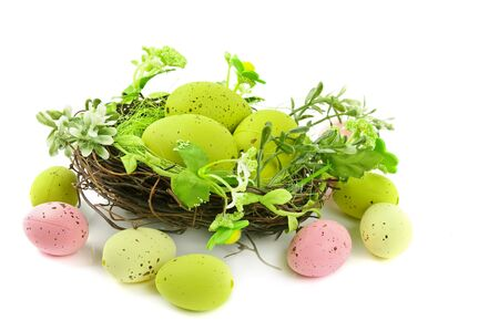 decorative easter nest with eggs Stock Photo - 9229946
