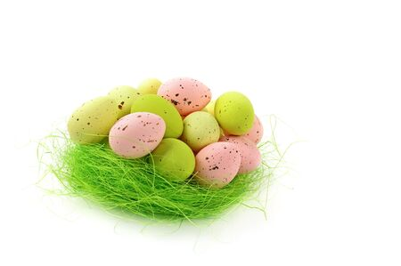 decorative easter nest with eggs Stock Photo - 9229940