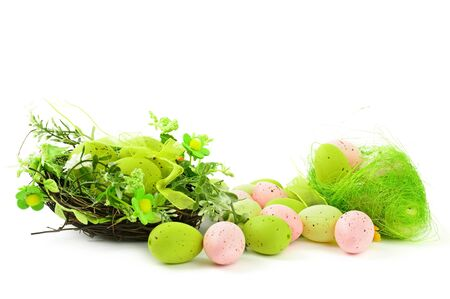 decorative easter nest with eggs Stock Photo - 9229936