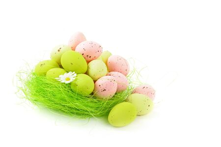 decorative easter nest with eggs Stock Photo - 9280662